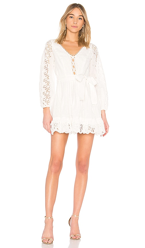 Zimmermann Helm Eyelet Vine Dress in White