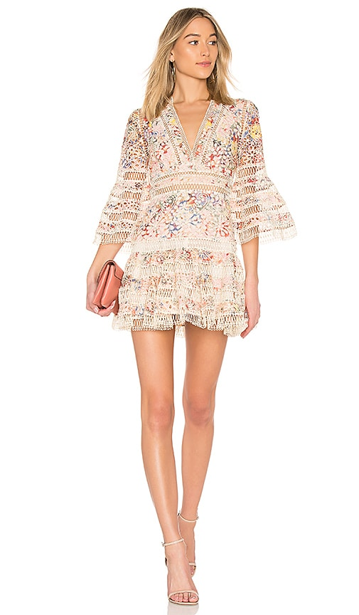 Zimmermann Lovelorn Floral Flutter Dress in Pink