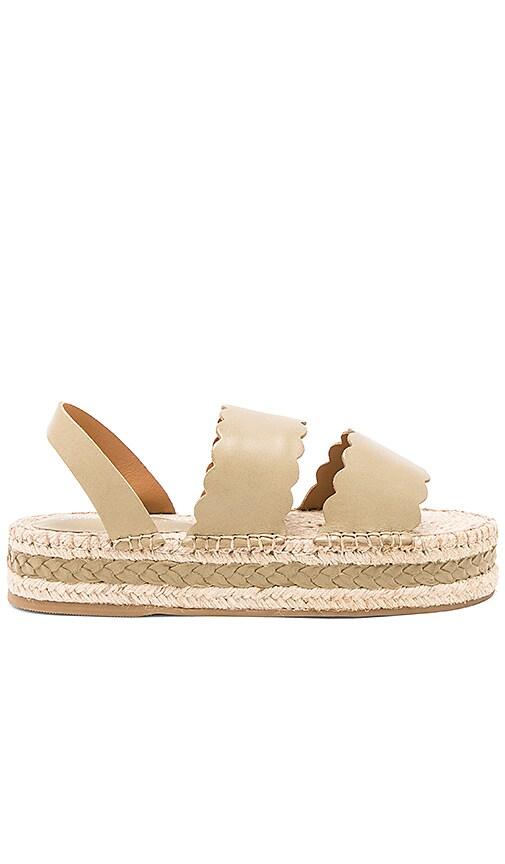 Zimmermann Scallop Espadrille Sandal in Olive