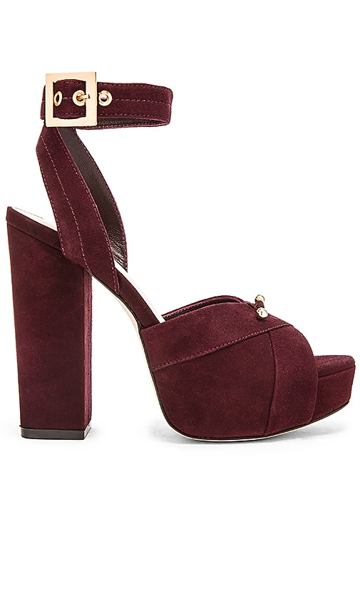 Zimmermann Platform Sandal in Mulberry