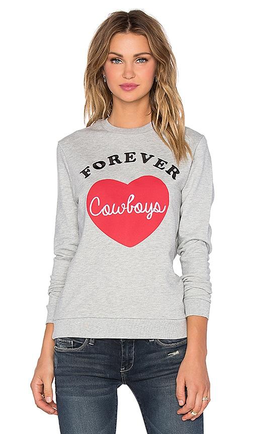 Zoe Karssen Forever Cowboys Sweatshirt in Heather Grey