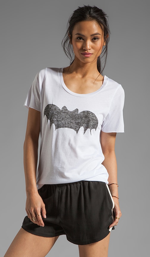 Loose Fit Short Sleeve Bat Tee