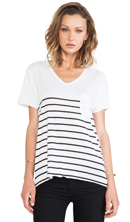 Dropped Sleeve Stripe Tee