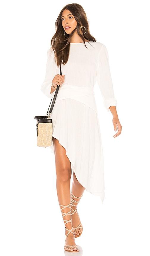 ZULU & ZEPHYR Malibu Wrap Dress in White