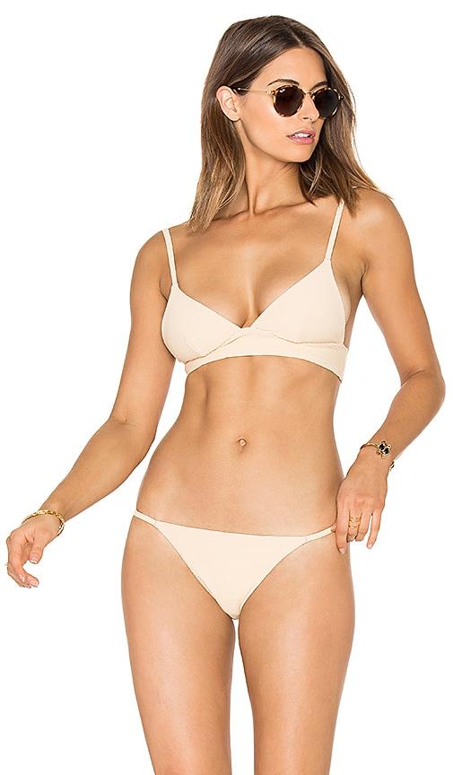 86708142c4e67 ZULU   ZEPHYR Dawn Tri Cup Bikini Top in Nude