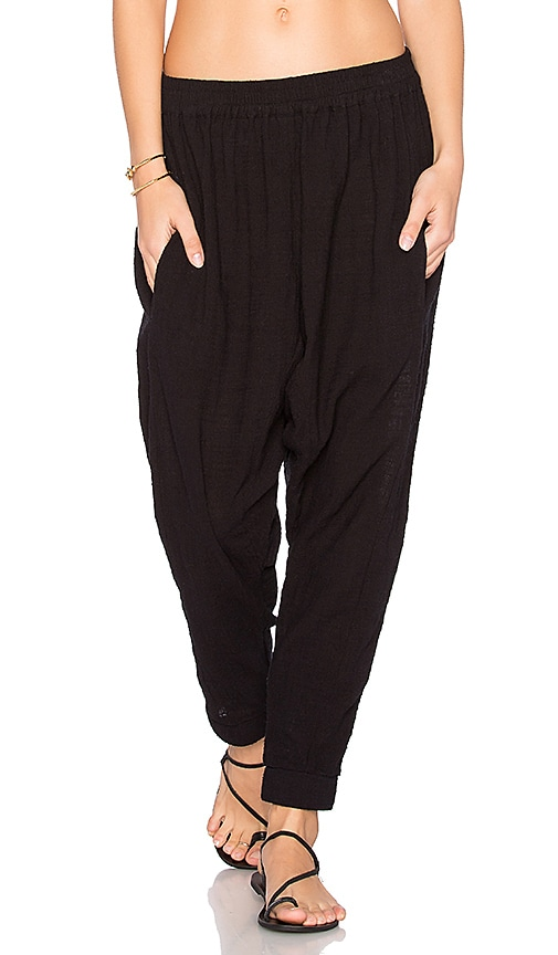 ZULU & ZEPHYR Canvas Pant in Black