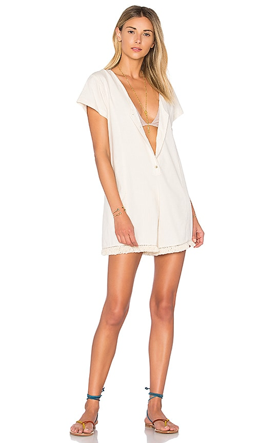 ZULU & ZEPHYR Dust Tassel Romper in Cream