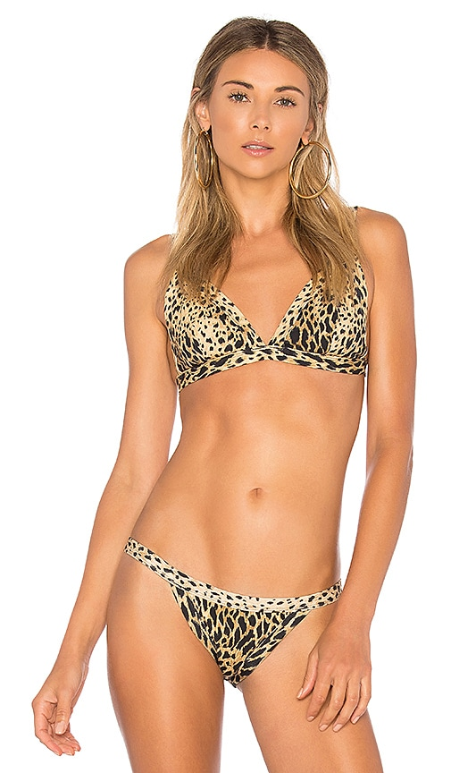 ZULU & ZEPHYR Sherry Harness Bikini Top in Tan