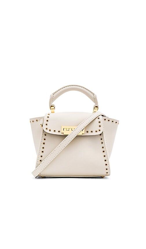 Zac Zac Posen Eartha Grommets Iconic Top Handle Mini Bag in Ivory