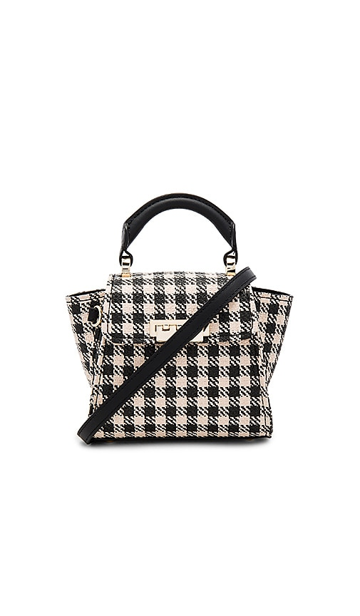 Eartha Iconic Mini Gingham Straw Top Handle