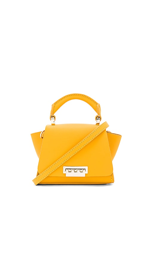 Zac Zac Posen Eartha Soft Top Handle Mini Crossbody in Mustard