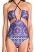 x REVOLVE Push Cart Halter One Piece i Soca Geo, view 4, click to view large image.