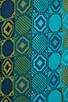 Geometric Tonal Print Mesh Crepe Dress, view 6, click to view large image.