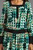 Deco Fans Print Crepe De Chine Dress, view 5, click to view large image.