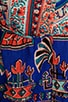 Egyptian Revival Stripe Border Print Silk/Linen Shorts, view 7, click to view large image.