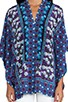 Scherazade Panel Print Crepe De Chine Kimono, view 4, click to view large image.
