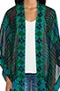Patchwork Print Kimono, view 4, click to view large image.