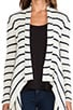 Striped Ribbed Drape Cardigan, view 4, click to view large image.