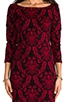 Corbin Long Sleeve Tapestry Knit Dress, view 5, click to view large image.