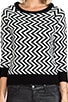 Emalee ZIg Zag Pattern Sweater, view 4, click to view large image.