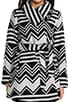 Emilia Charley Stripe Wool Blend Coat, view 5, click to view large image.