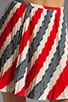 Image 4 of Jack by BB Dakota Dorene Stripe River Skirt in Midnight Blue/True Red