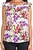 Jilles Orchid Printed Blouse, view 4, click to view large image.