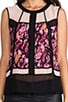 Sleeveless Combo Top, view 4, click to view large image.