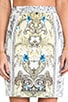 Brocade Print Skirt, view 4, click to view large image.