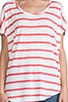 Linen Stripe Tee, view 4, click to view large image.