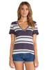 Light Weight Jersey Striped Pocket Tee, view 1, click to view large image.