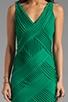 Sleeveless V Neck Dress with Criss Cross Detail, view 5, click to view large image.