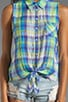 Tie Front Sleeveless Shirt, view 3, click to view large image.