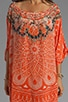 Road to Nowhere Round Neck Kaftan, view 7, click to view large image.