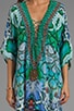 Los Pozas Short Lace Up Kaftan, view 5, click to view large image.