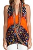 African Queen Sleeveless Wrap Top, view 4, click to view large image.