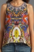 African Queen Sleeveless Top, view 4, click to view large image.