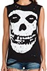The Misfits Skull Sleeveless Tee, view 4, click to view large image.
