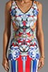 Flower Tracers Neoprene Dress, view 5, click to view large image.