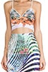 Ribbon Landscape Neoprene Crop Top, view 5, click to view large image.