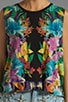 Tropical Kaleidoscope Muscle Crop Top, view 3, click to view large image.