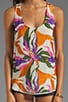 Lily Embroidered Silk Tank, view 3, click to view large image.