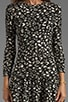 Meko Leopard Knit Dot Dress, view 5, click to view large image.