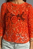 Abelle Scroll Lace Blouse, view 3, click to view large image.
