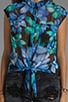 Chandler Hawaiian Floral Sleeveless Blouse, view 3, click to view large image.