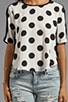 Anex Rayon Dot Top, view 4, click to view large image.