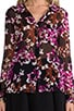 Lorelai Print Chiff Shirt, view 4, click to view large image.