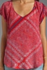 Tuscana Short Sleeve Silk Top, view 3, click to view large image.