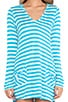 Cabana Stripe Hooded Cover Up, view 5, click to view large image.