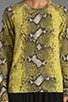 Sloane Diamondback Python Crew Neck Sweater, view 3, click to view large image.